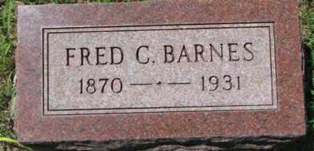 BARNES, FRED C. - Dakota County, Nebraska   FRED C. BARNES - Nebraska Gravestone Photos