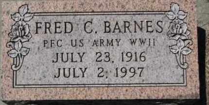 BARNES, FRED C. - Dakota County, Nebraska | FRED C. BARNES - Nebraska Gravestone Photos