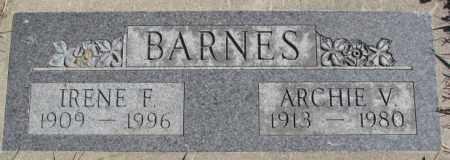 BARNES, ARCHIE V. - Dakota County, Nebraska | ARCHIE V. BARNES - Nebraska Gravestone Photos