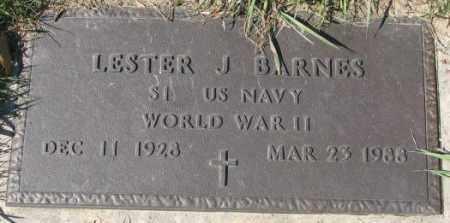 BARNES, LESTER J. (WW II MARKER) - Dakota County, Nebraska   LESTER J. (WW II MARKER) BARNES - Nebraska Gravestone Photos