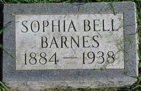 BARNES, SOPHIA BELL - Dakota County, Nebraska | SOPHIA BELL BARNES - Nebraska Gravestone Photos