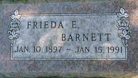 BARNETT, FRIEDA E. - Dakota County, Nebraska | FRIEDA E. BARNETT - Nebraska Gravestone Photos