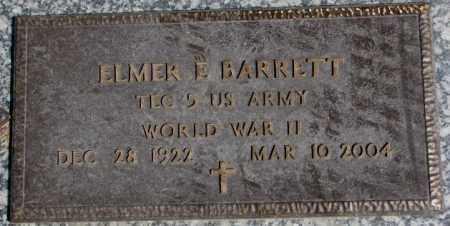 BARRETT, ELMER E. (WW II MARKER) - Dakota County, Nebraska   ELMER E. (WW II MARKER) BARRETT - Nebraska Gravestone Photos