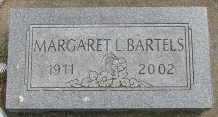BARTELS, MARGARET L. - Dakota County, Nebraska | MARGARET L. BARTELS - Nebraska Gravestone Photos