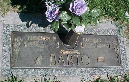 BARTO, PHEOBEE P - Dakota County, Nebraska | PHEOBEE P BARTO - Nebraska Gravestone Photos