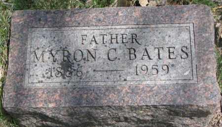 BATES, MYRON C. - Dakota County, Nebraska   MYRON C. BATES - Nebraska Gravestone Photos