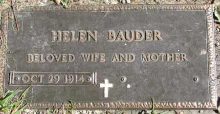BAUDER, HELEN - Dakota County, Nebraska | HELEN BAUDER - Nebraska Gravestone Photos