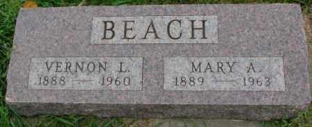 BEACH, MARY A. - Dakota County, Nebraska   MARY A. BEACH - Nebraska Gravestone Photos