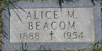 BEACOM, ALICE M. - Dakota County, Nebraska | ALICE M. BEACOM - Nebraska Gravestone Photos