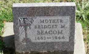 BEACOM, BRIDGET M. - Dakota County, Nebraska | BRIDGET M. BEACOM - Nebraska Gravestone Photos