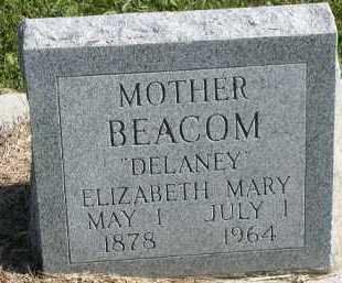 DELANEY BEACOM, ELIZABETH MARY - Dakota County, Nebraska | ELIZABETH MARY DELANEY BEACOM - Nebraska Gravestone Photos