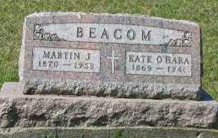 BEACOM, MARTIN J. - Dakota County, Nebraska   MARTIN J. BEACOM - Nebraska Gravestone Photos