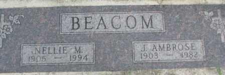 BEACOM, J. AMBROSE - Dakota County, Nebraska | J. AMBROSE BEACOM - Nebraska Gravestone Photos