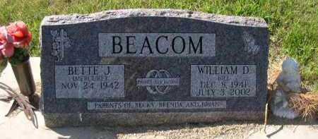 BEACOM, WILLIAM D. - Dakota County, Nebraska | WILLIAM D. BEACOM - Nebraska Gravestone Photos