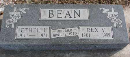 BEAN, ETHEL I. - Dakota County, Nebraska | ETHEL I. BEAN - Nebraska Gravestone Photos