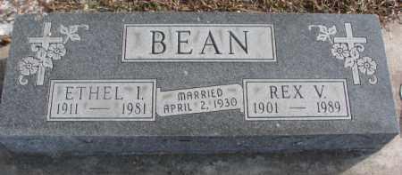 BEAN, REX V. - Dakota County, Nebraska | REX V. BEAN - Nebraska Gravestone Photos