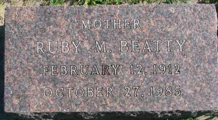 BEATTY, RUBY M. - Dakota County, Nebraska | RUBY M. BEATTY - Nebraska Gravestone Photos