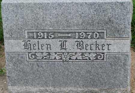 BECKER, HELEN W. - Dakota County, Nebraska | HELEN W. BECKER - Nebraska Gravestone Photos