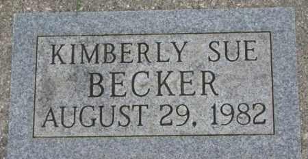 BECKER, KIMBERLY SUE - Dakota County, Nebraska | KIMBERLY SUE BECKER - Nebraska Gravestone Photos