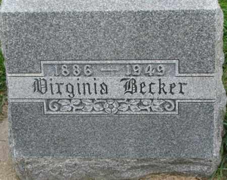 BECKER, VIRGINIA - Dakota County, Nebraska | VIRGINIA BECKER - Nebraska Gravestone Photos