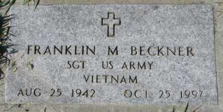 BECKNER, FRANKLIN M. - Dakota County, Nebraska | FRANKLIN M. BECKNER - Nebraska Gravestone Photos