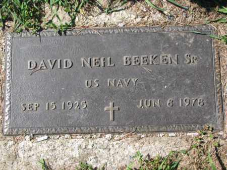 BEEKEN, DAVID NEIL SR. - Dakota County, Nebraska | DAVID NEIL SR. BEEKEN - Nebraska Gravestone Photos