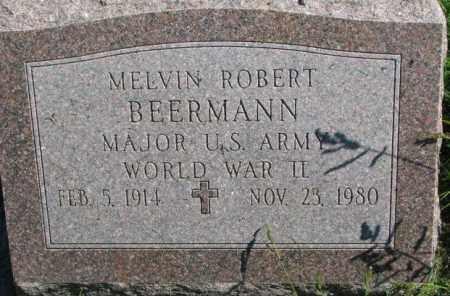 BEERMANN, MELVIN ROBERT - Dakota County, Nebraska   MELVIN ROBERT BEERMANN - Nebraska Gravestone Photos