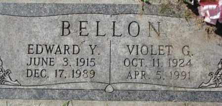 BELLON, VIOLET G. - Dakota County, Nebraska | VIOLET G. BELLON - Nebraska Gravestone Photos