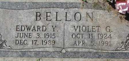 BELLON, EDWARD Y. - Dakota County, Nebraska | EDWARD Y. BELLON - Nebraska Gravestone Photos