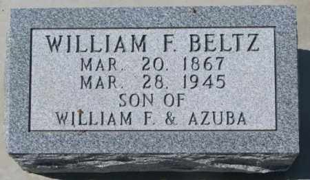 BELTZ, WILLIAM F. - Dakota County, Nebraska | WILLIAM F. BELTZ - Nebraska Gravestone Photos