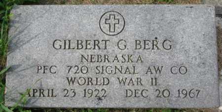 BERG, GILBERT G. (WW II MARKER) - Dakota County, Nebraska   GILBERT G. (WW II MARKER) BERG - Nebraska Gravestone Photos