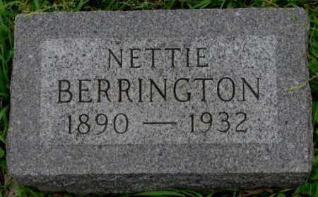 BERRINGTON, NETTIE - Dakota County, Nebraska | NETTIE BERRINGTON - Nebraska Gravestone Photos