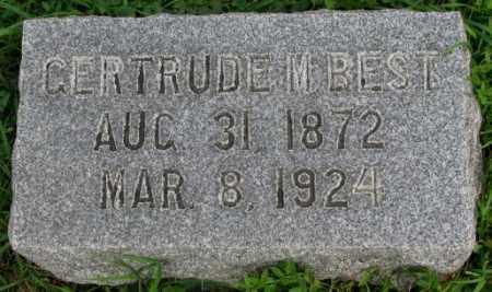 BEST, GERTRUDE M. - Dakota County, Nebraska | GERTRUDE M. BEST - Nebraska Gravestone Photos