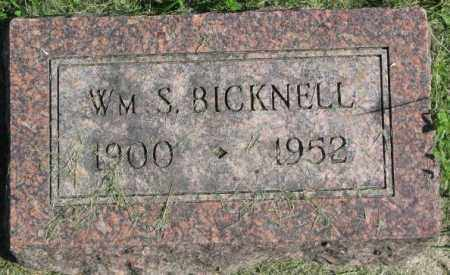 BICKNELL, WILLIAM S. - Dakota County, Nebraska | WILLIAM S. BICKNELL - Nebraska Gravestone Photos