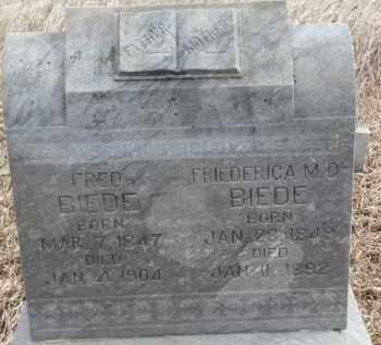 BIEDE, FRIEDERICA M.D. - Dakota County, Nebraska | FRIEDERICA M.D. BIEDE - Nebraska Gravestone Photos