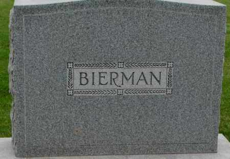 BIERMAN, PLOT - Dakota County, Nebraska | PLOT BIERMAN - Nebraska Gravestone Photos