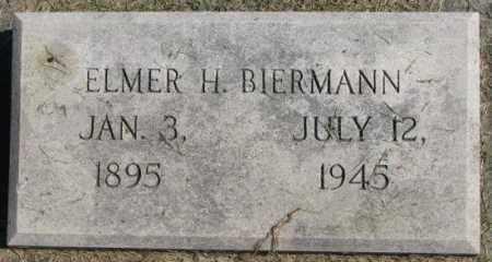 BIERMANN, ELMER H. - Dakota County, Nebraska | ELMER H. BIERMANN - Nebraska Gravestone Photos