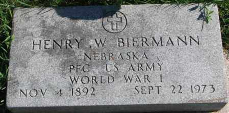 BIERMANN, HENRY W. - Dakota County, Nebraska | HENRY W. BIERMANN - Nebraska Gravestone Photos