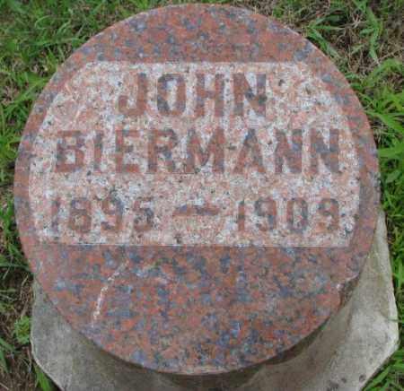 BIERMANN, JOHN - Dakota County, Nebraska   JOHN BIERMANN - Nebraska Gravestone Photos