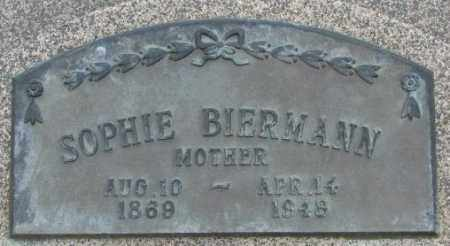 BIERMANN, SOPHIE - Dakota County, Nebraska   SOPHIE BIERMANN - Nebraska Gravestone Photos