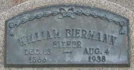BIERMANN, WILLIAM - Dakota County, Nebraska | WILLIAM BIERMANN - Nebraska Gravestone Photos