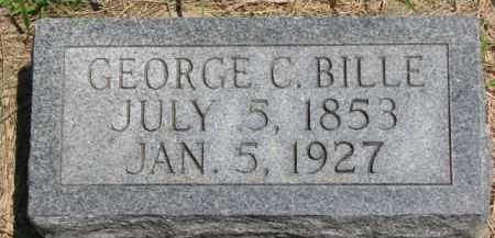 BILLE, GEORGE C. - Dakota County, Nebraska | GEORGE C. BILLE - Nebraska Gravestone Photos