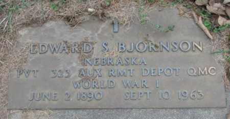 BJORNSON, EDWARD S. - Dakota County, Nebraska | EDWARD S. BJORNSON - Nebraska Gravestone Photos
