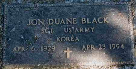BLACK, JON DUANE - Dakota County, Nebraska   JON DUANE BLACK - Nebraska Gravestone Photos