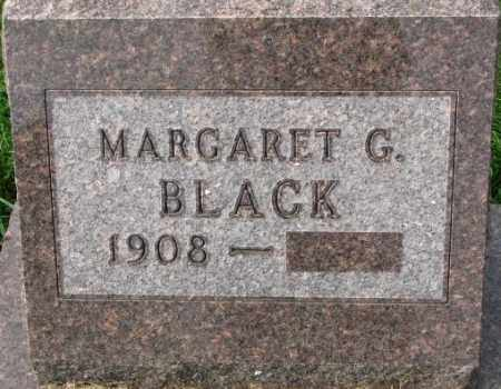 BLACK, MARGARET G. - Dakota County, Nebraska | MARGARET G. BLACK - Nebraska Gravestone Photos