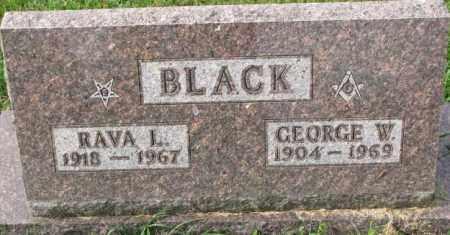 BLACK, RAVA L. - Dakota County, Nebraska | RAVA L. BLACK - Nebraska Gravestone Photos