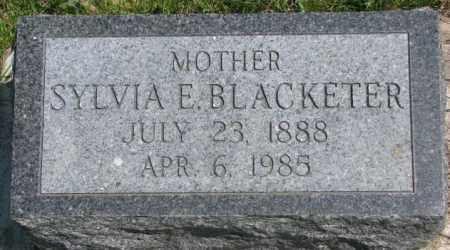 BLACKETER, SYLVIA E. - Dakota County, Nebraska   SYLVIA E. BLACKETER - Nebraska Gravestone Photos
