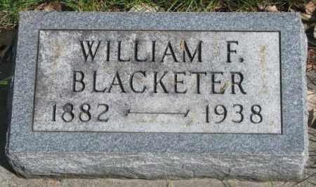 BLACKETER, WILLIAM F. - Dakota County, Nebraska | WILLIAM F. BLACKETER - Nebraska Gravestone Photos