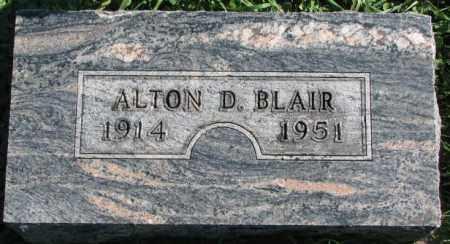 BLAIR, ALTON D. - Dakota County, Nebraska | ALTON D. BLAIR - Nebraska Gravestone Photos