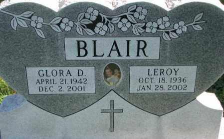 BLAIR, GLORA D. - Dakota County, Nebraska   GLORA D. BLAIR - Nebraska Gravestone Photos
